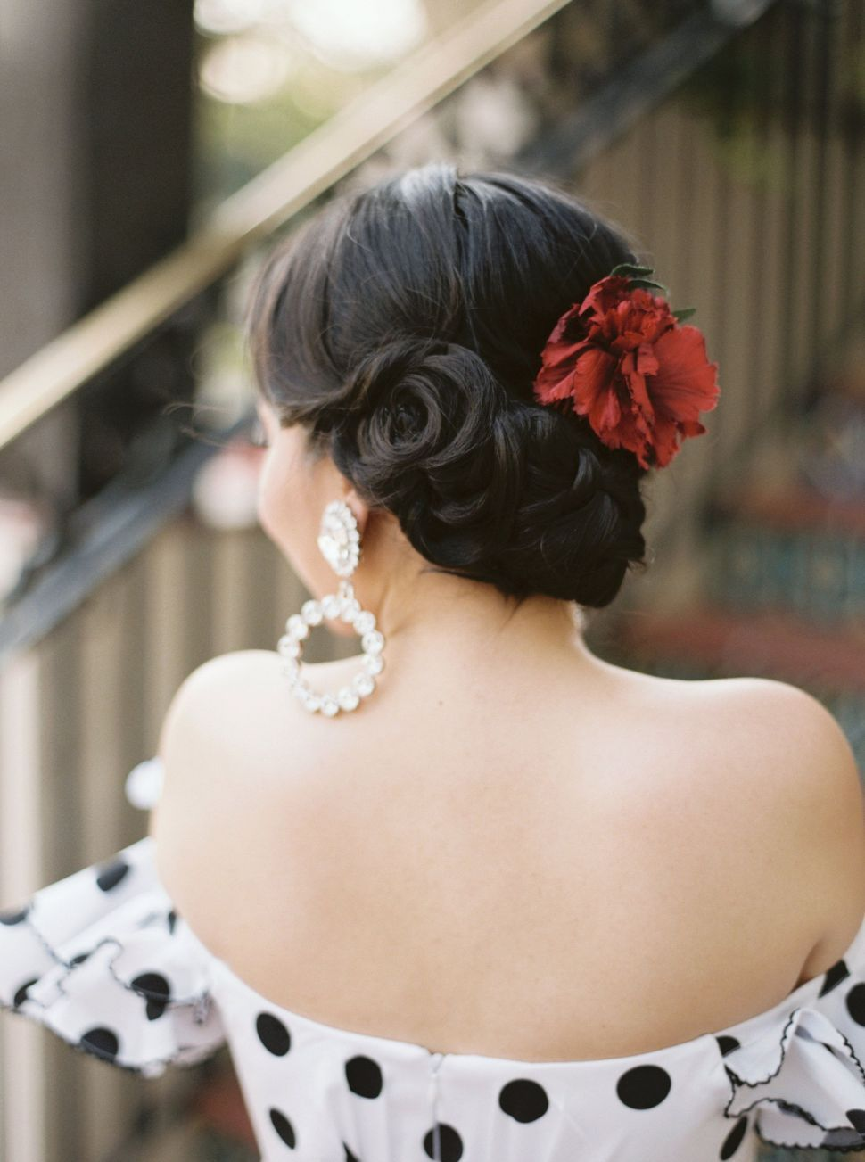 Spanish Bun Hairstyle Bunhairstyles Hairstyles Weddinghairstyles Weddinghair Blackhairstyles Spanish Hairstyles Hair Styles Afro Hairstyles