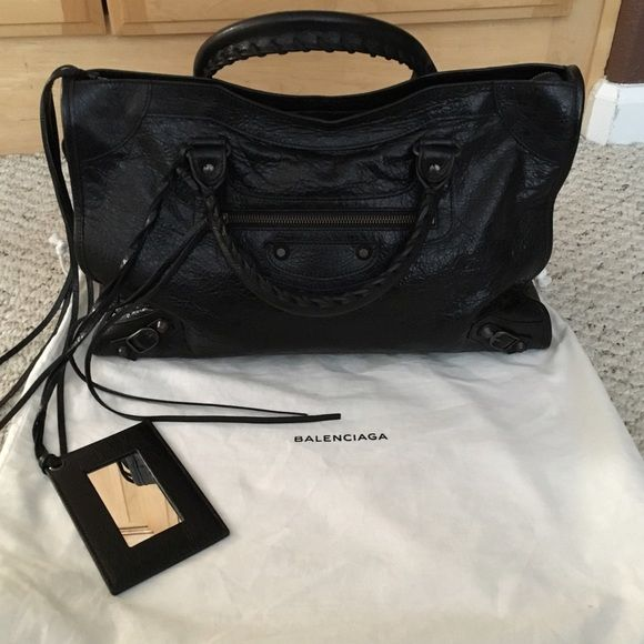 424a0b3096 Balenciaga Classic City Bag NWT Balenciaga Classic City Bag in black - price  is somewhat negotiable. Please make a reasonable offer if interested!