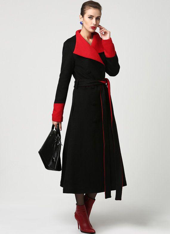 best service b518a cc50b Dieses fabelhafte schwarzen Wollmantel wird schön mit den ...