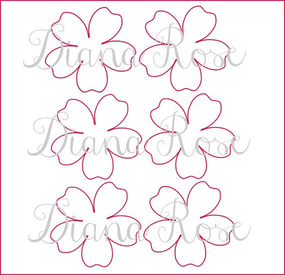 Printable Paper Rose Templates- DIY paper flowers- Printable PDF ...