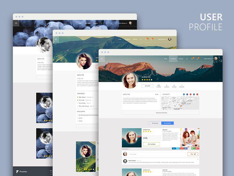 User Profile User Profile Web Design Social Templates