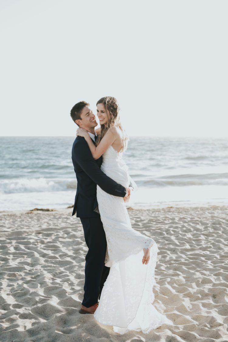 All-Weiß-Entspannte Hochzeit Am Strand Von Malibu | Entspannte ...