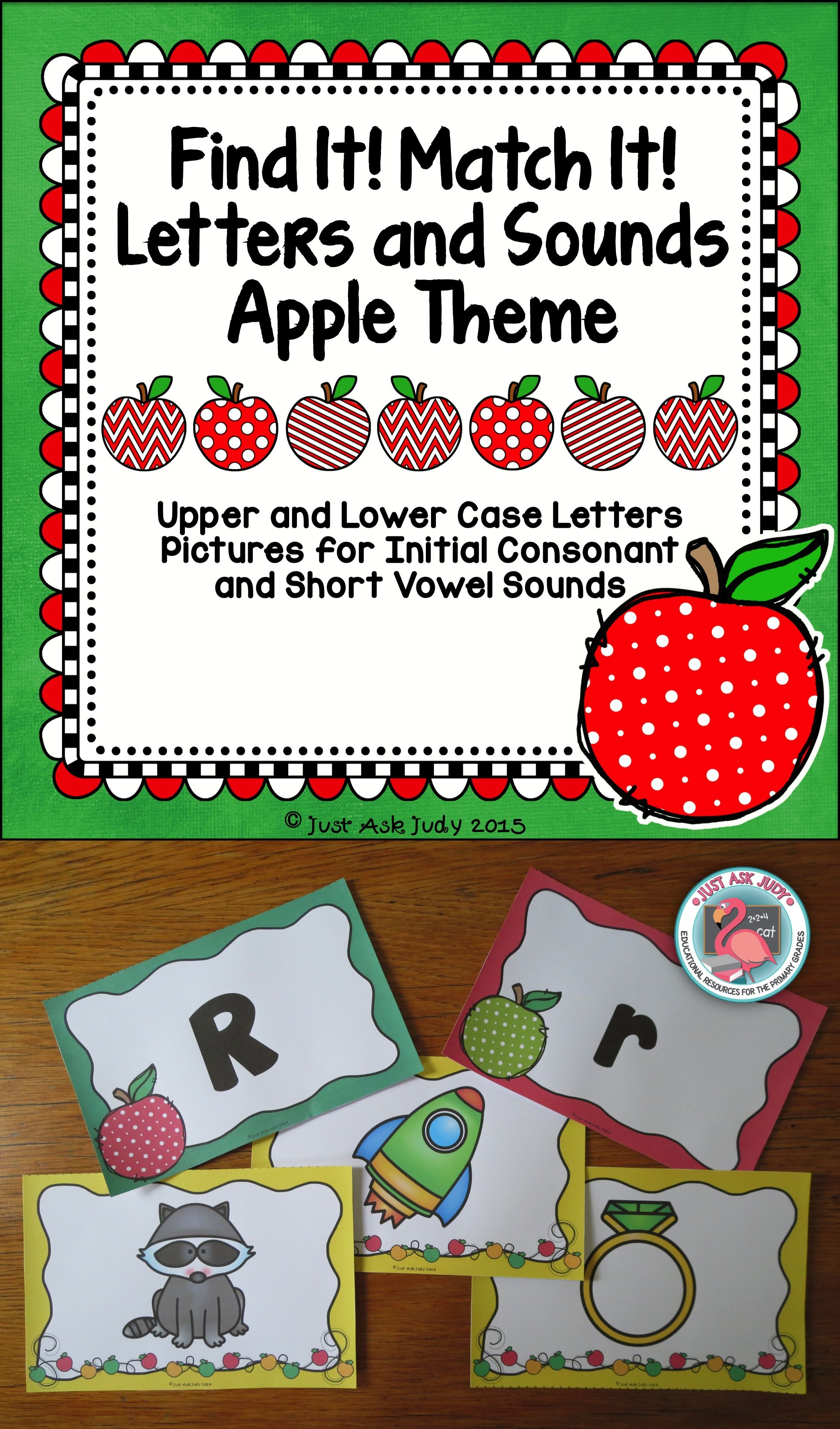 Letters And Sounds Apple Theme Find It Match It