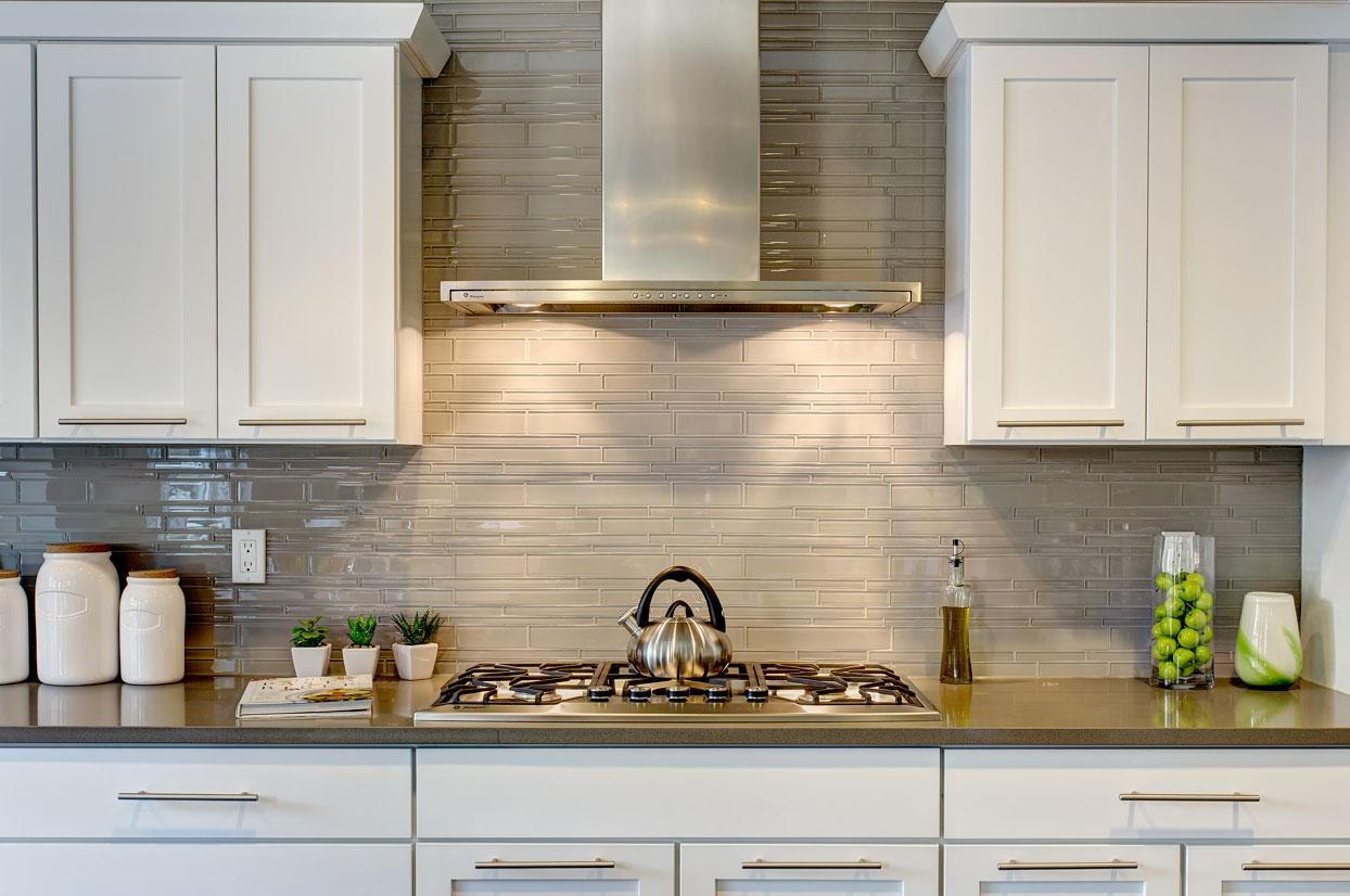Full Height Mosaic Glass Tile Backsplash Kitchen Inspirations