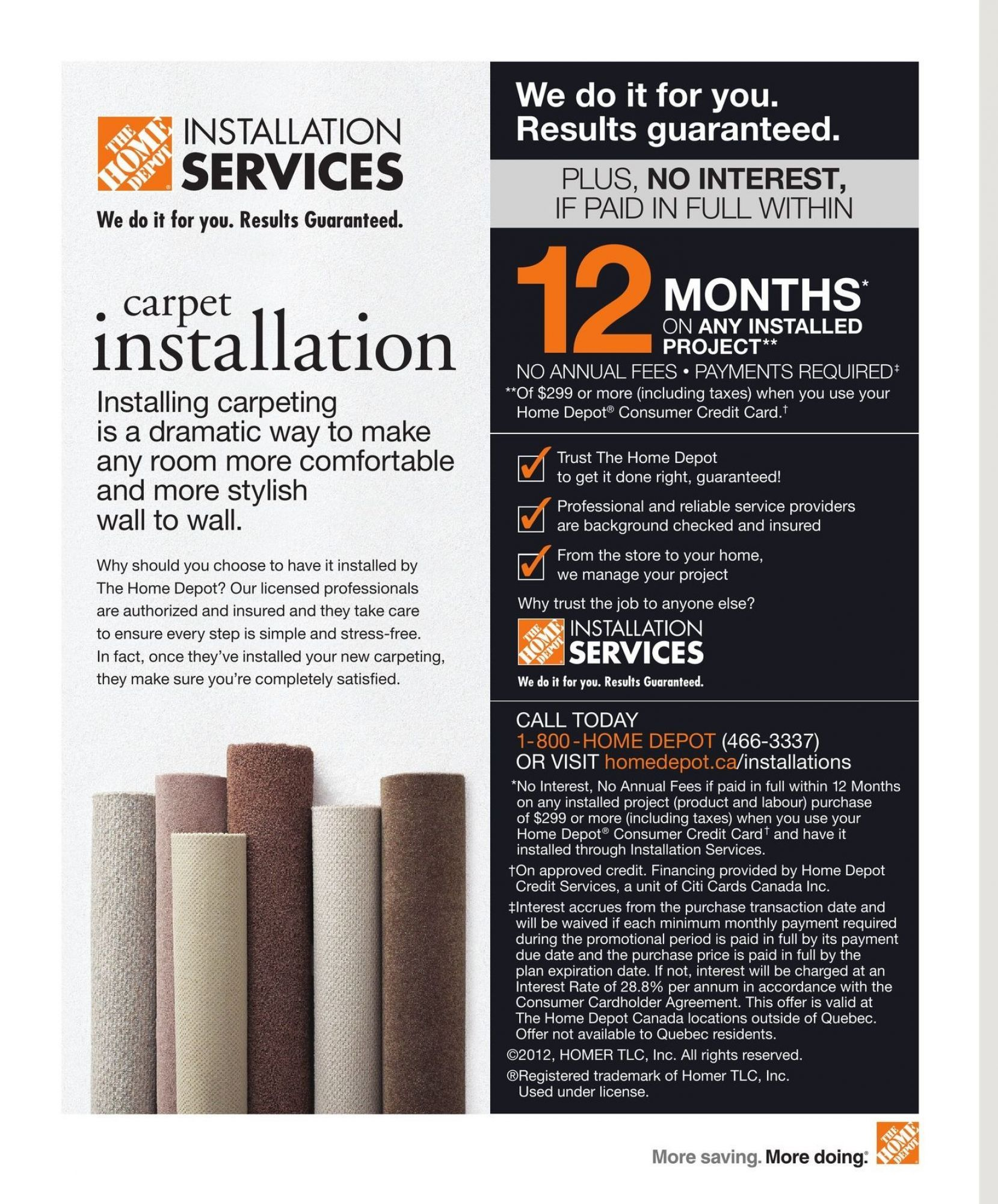 Flyer Home Depot Flooring Ing Guide Canada From Monday January 1 2018 To December 31