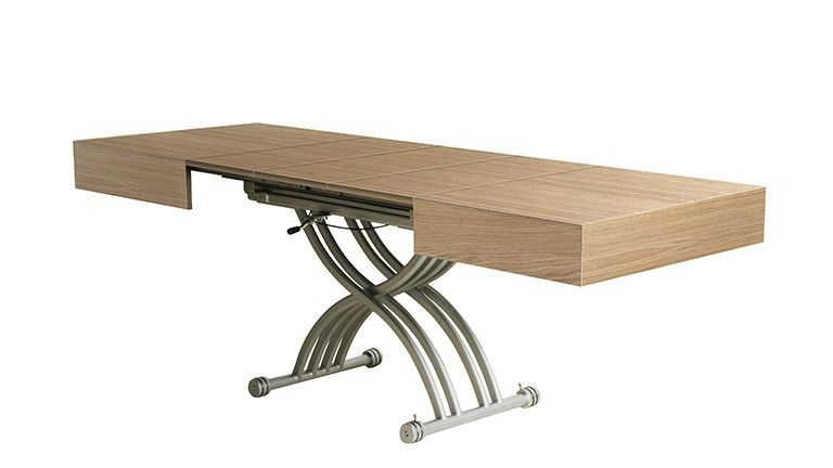 Table Basse Modulable Et Relevable Twinga Table Basse Modulable Table Basse Table Salle A Manger