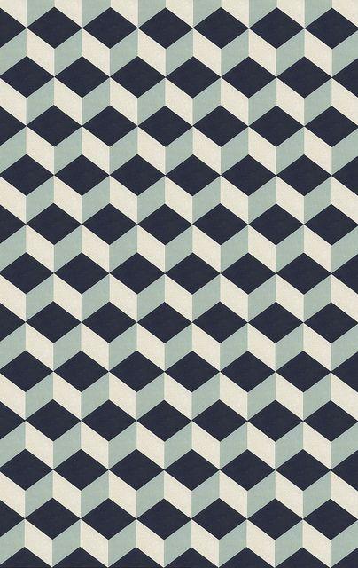 Scandinave Geometrique Vintage 70s Carreaux By Pilllpat Agence