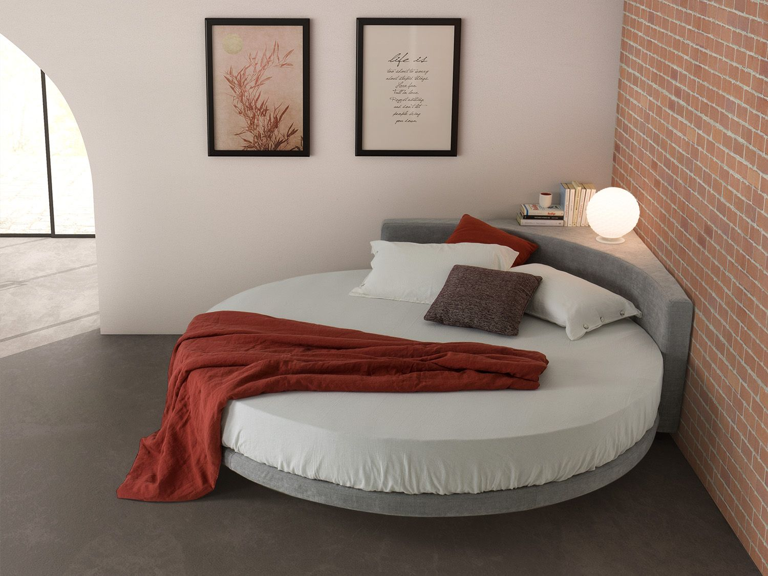 Wheel Round Bed With Corner Headboard Diotti Com Bedroom Bed