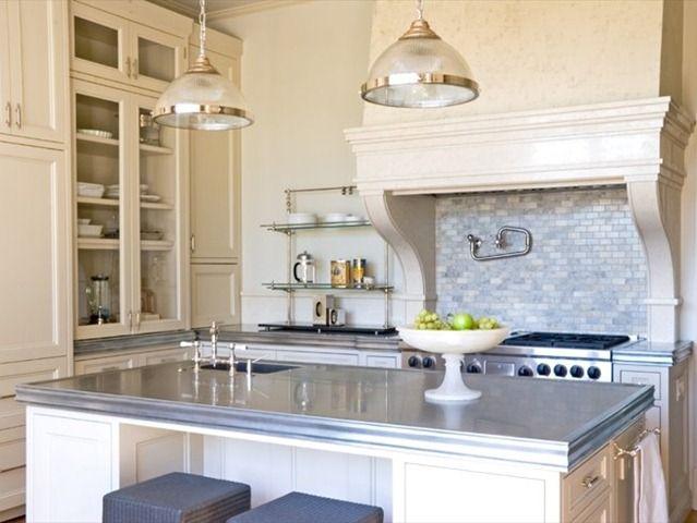 kitchen with zinc counters modern kitchen interiors kitchen redesign kitchen design trends on kitchen zinc id=68520