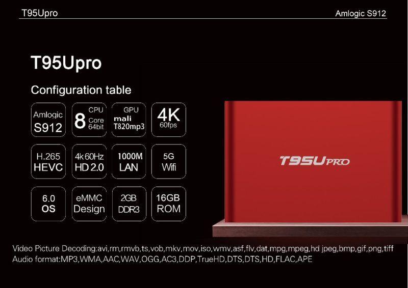 Sunvell T95U PRO Amlogic S912 Octa Core Android 6 0 4K TV Box | TV