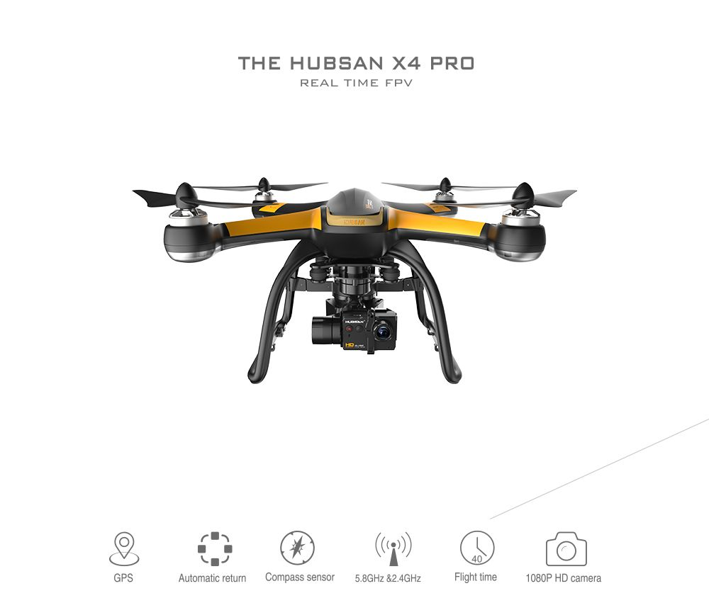 Hubsan x4 pro h109s fpv 5.8 g com câmera HD 1080p 3 eixos cardan gps rc Quadrotor