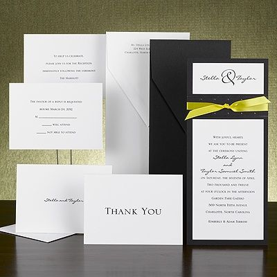 Black And White Invitation But With Teal Ribbon Wedding Invitations Black And White Wedding Invitations Invitations