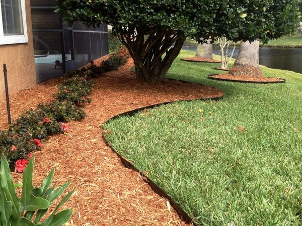 garden edging ideas metal edging lawn mulch flower beds garden ...