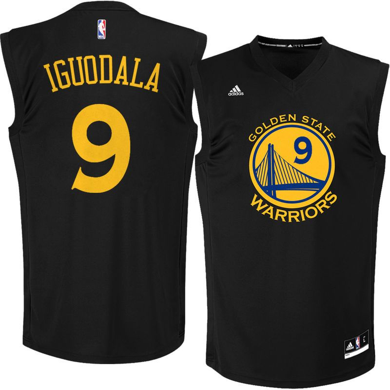 adidas Andre Iguodala Golden State Warriors Fashion Replica Jersey - Black bbc868e7c
