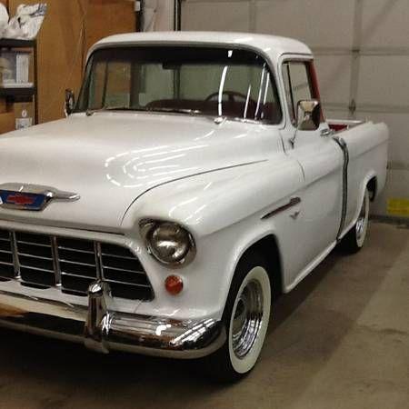 1955 Cameo pickup | Chevy trucks, Panel truck, Vintage trucks