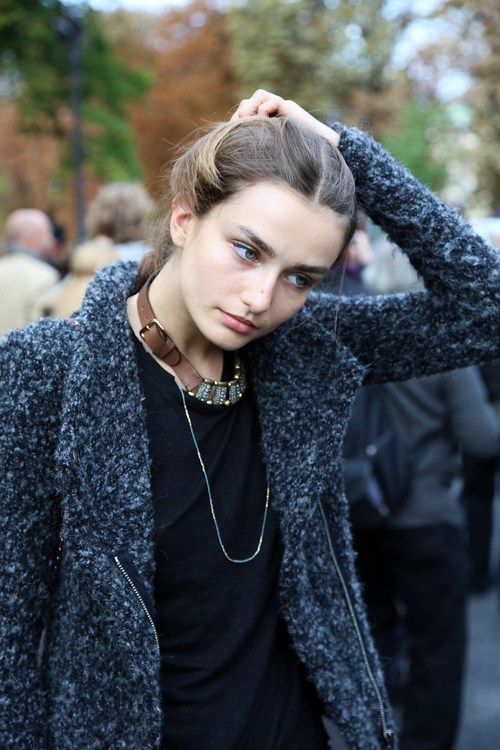the coat + necklace
