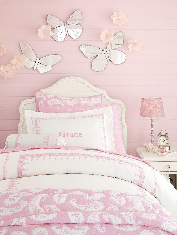 Love The Pink Paisleys And Butterflies Girl Bedroom