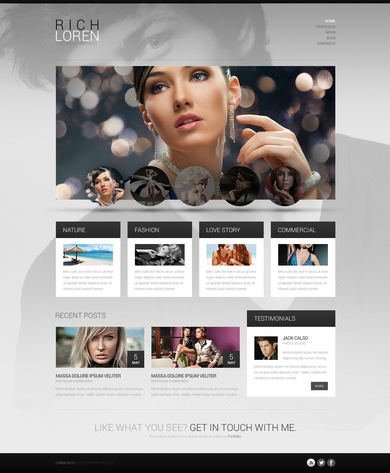 Personal Portfolio Free WordPress Theme Httpswww - Free html photography website templates