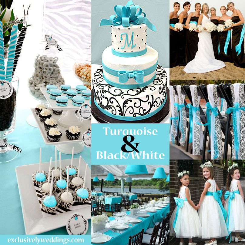 Blue And Black Wedding Ideas: Black And White Wedding Colors