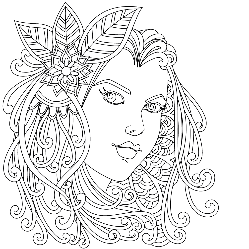 Adults Coloring Book, Printable Coloring Pages, Coloring ...