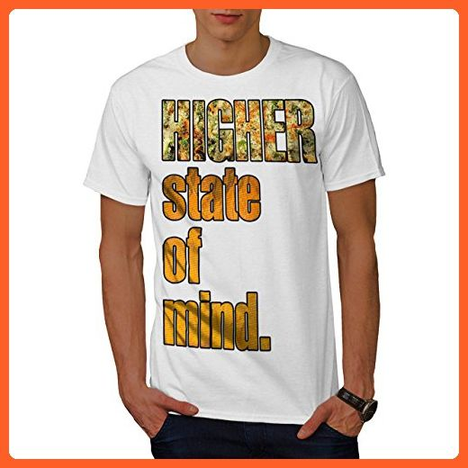 2a7748dc4 Higher State Of Mind Smoke Weed Men L T-shirt | Wellcoda - Cities countries