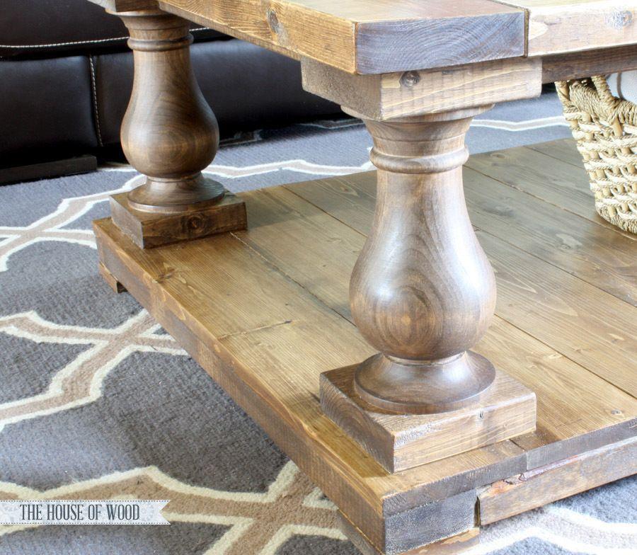 Balustrade Coffee Table Coffee table plans, Coffee table