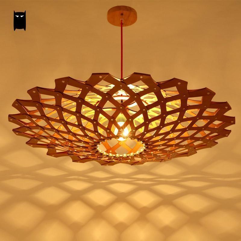 wooden coral lampshade pendant light fixture modern nordic hanging rh pinterest com