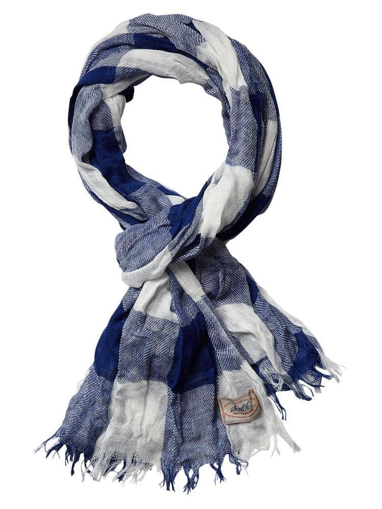 BB checkered scarf - dessin B - OS