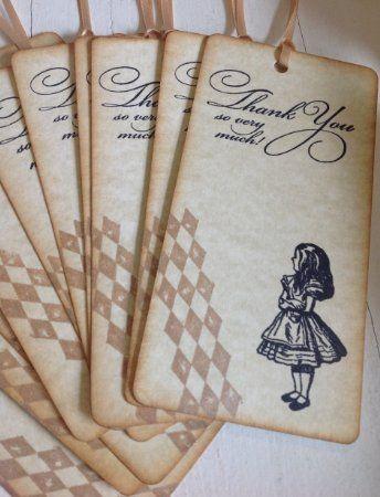 Alice in Wonderland Vintage Style Handmade Thank You Cards Box Set Wedding / Birthday Party / Celebration/ Dinner Party / Birthday: Amazon.co.uk: Kitchen & Home