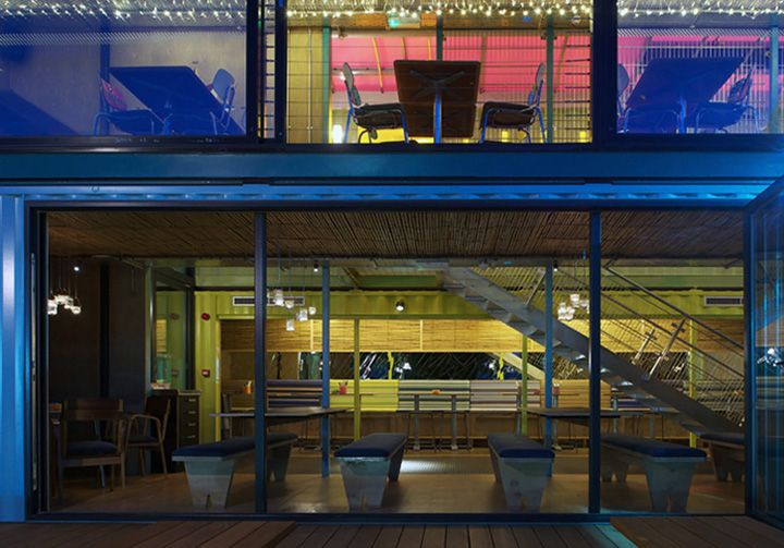 Wahaca container restaurant Softroom London 05