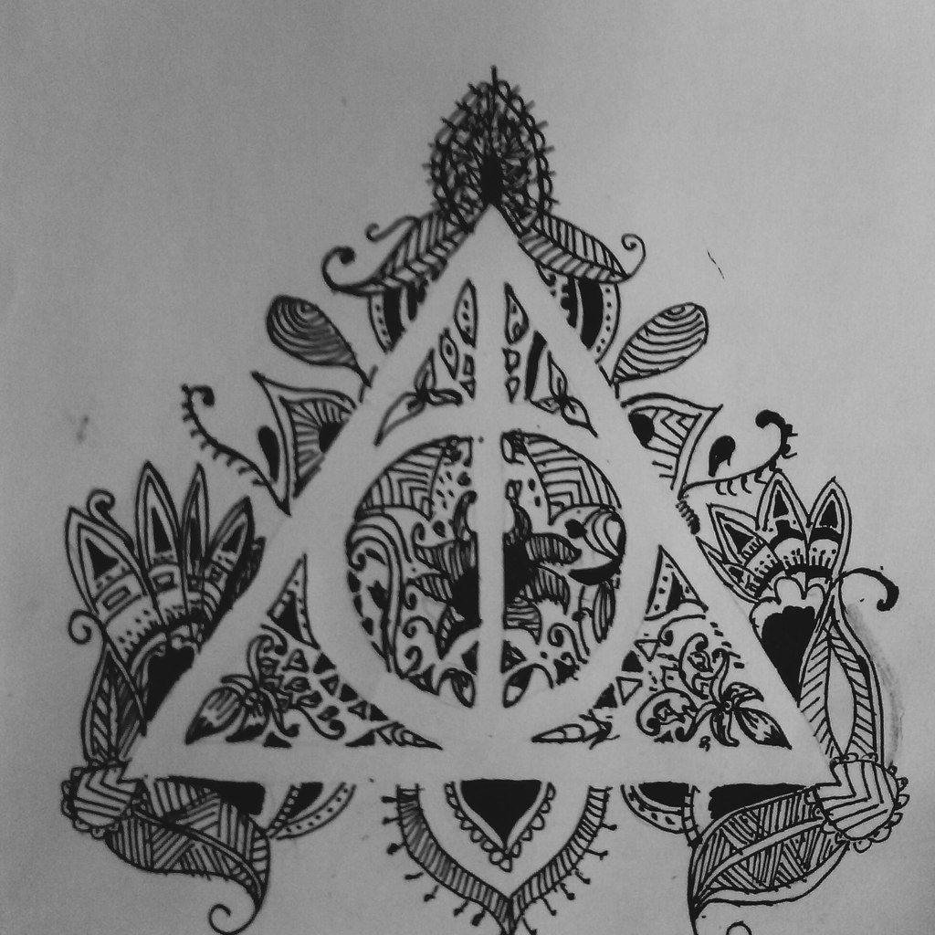 Pin De Danna Fernanda Cruz En Henna Tatuajes De Harry Potter