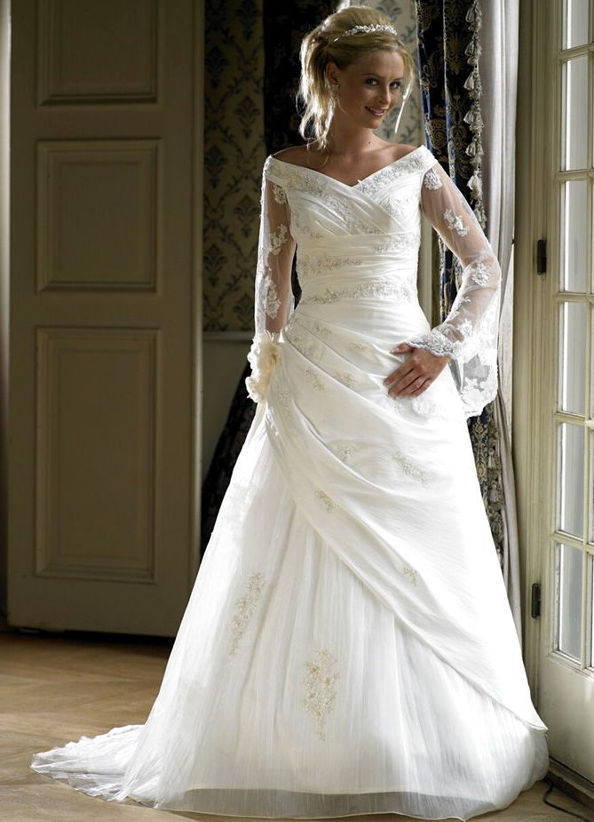 Plus Size Wedding Dresses For Older Brides   Wedding Gowns for Women ...