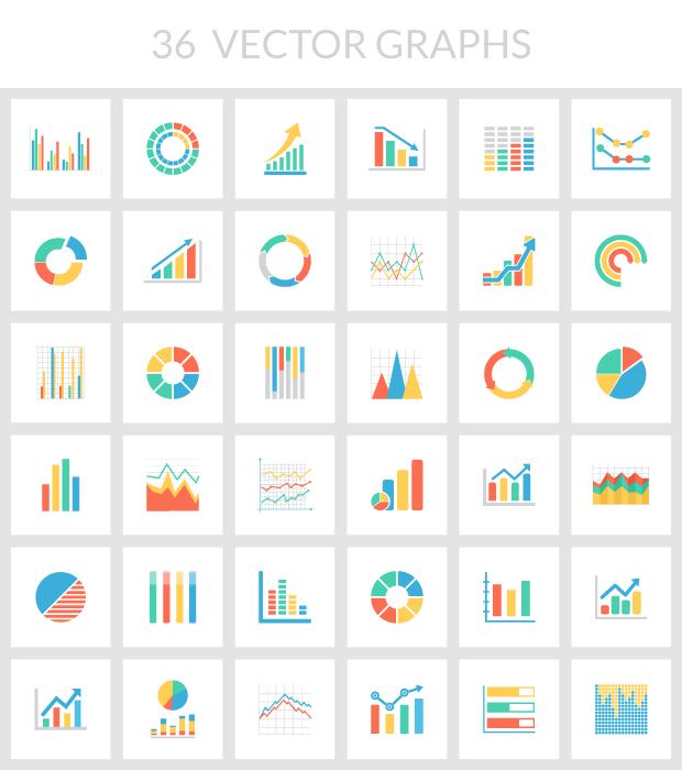 30 free vector graph