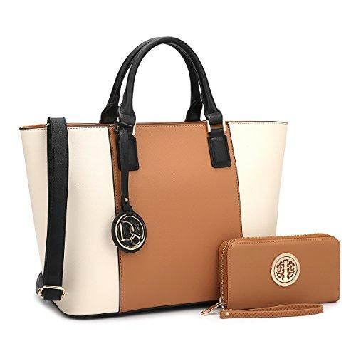Dasein Women S Designer Large Laptop Top Handle Structured Tote Bag Satchel Handbag Shoulder Purse