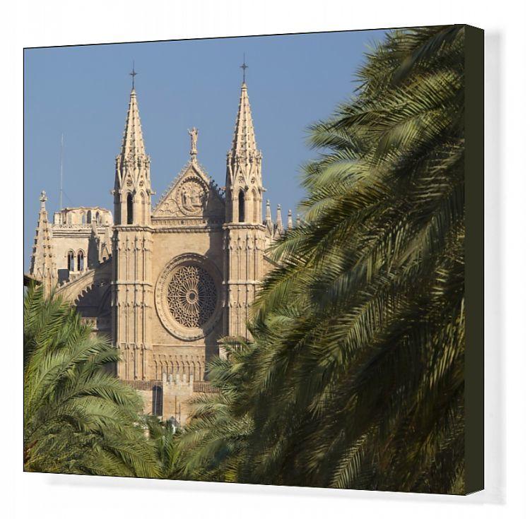 Canvas Print-West front, Palma Cathedral (La Seu), Palma de Mallorca, Mallorca (Majorca)-20″x16″ inch Box Canvas Print made in the UK