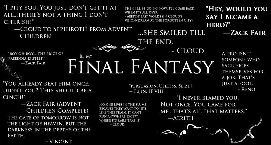 Final fantasy quotes final fantasy quotes by supergohan2132 on final fantasy quotes final fantasy quotes by supergohan2132 on deviantart voltagebd Image collections