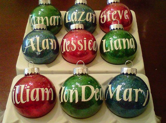 Personalized Christmas Balls.Personalized Christmas Ornaments By Craftasticgifts On Etsy