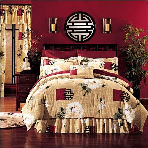 wk 8 chinese design inspiration  oriental style is simple and gives a great exotic touch  the type of designs on the bedding and bold paint used reminds me      fy bedding   asian and oriental   pinterest   oriental chinese      rh   pinterest