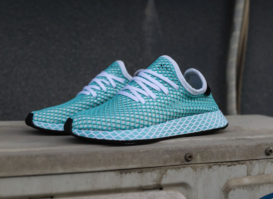 Review : Adidas Deerupt Runner Parley Blue Spirit (plastique