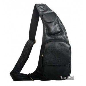 49347ee028663d One shoulder strap backpack black, brown genuine leather shoulder backpack
