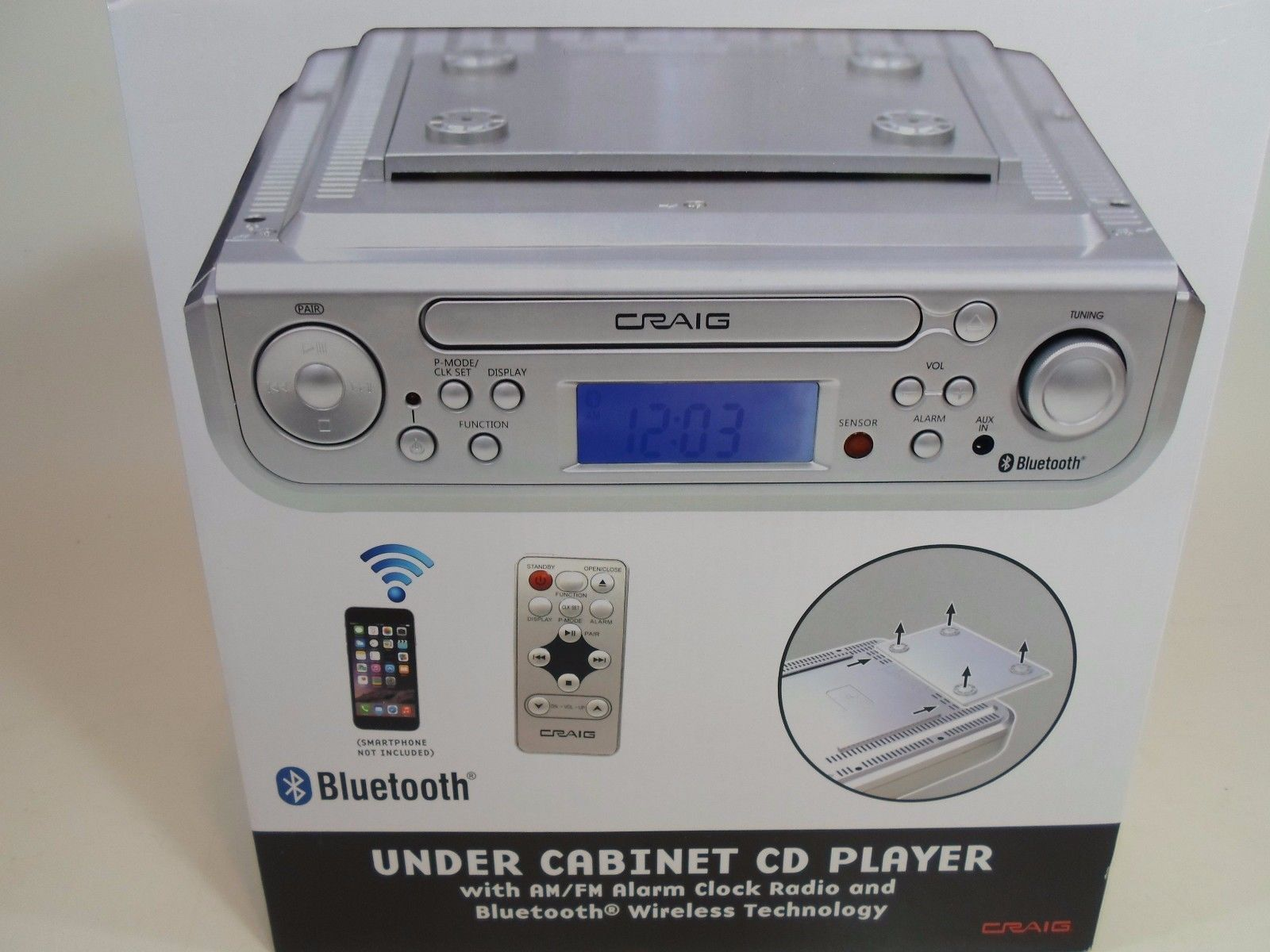 Compact and Shelf Stereos: New Craig Under Cabinet Cd Player Am-Fm ...