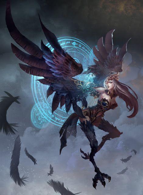Arpie (disegno) (con immagini) | Creatura leggendaria, Creature ...