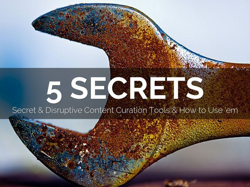 5 Secret Do More With Less Content Curation Tools via @Haiku Deck