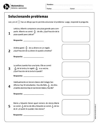 Solucionando problemas | Material didáctico | Matematicas tercer ...
