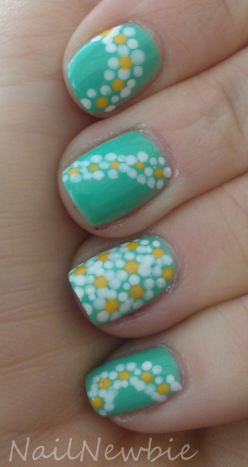Nail Newbie Purple Crumpet Spring Challenge Day 3 Small Flowers