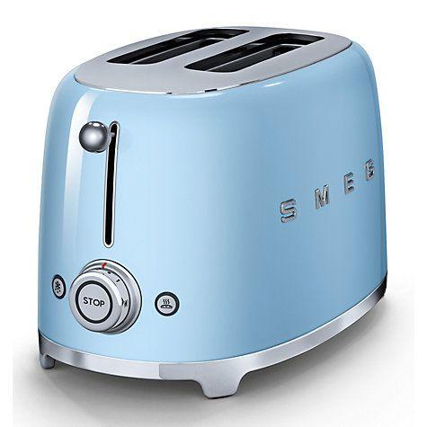 Smeg TSF01 2 Slice Toaster, Pastel Blue