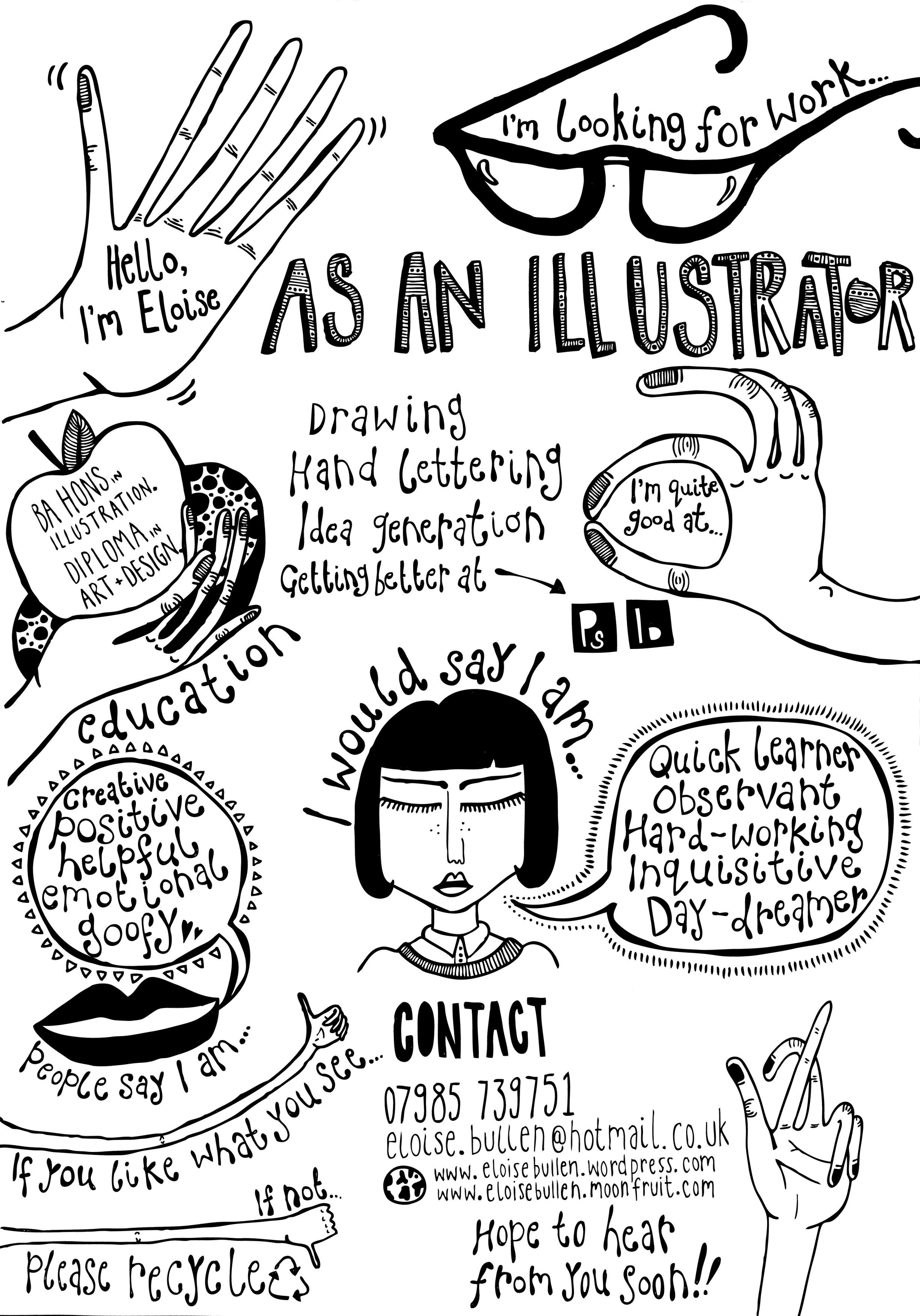 Creative Cv Of Eloise Bullen Creative Cvs Pinterest Creative
