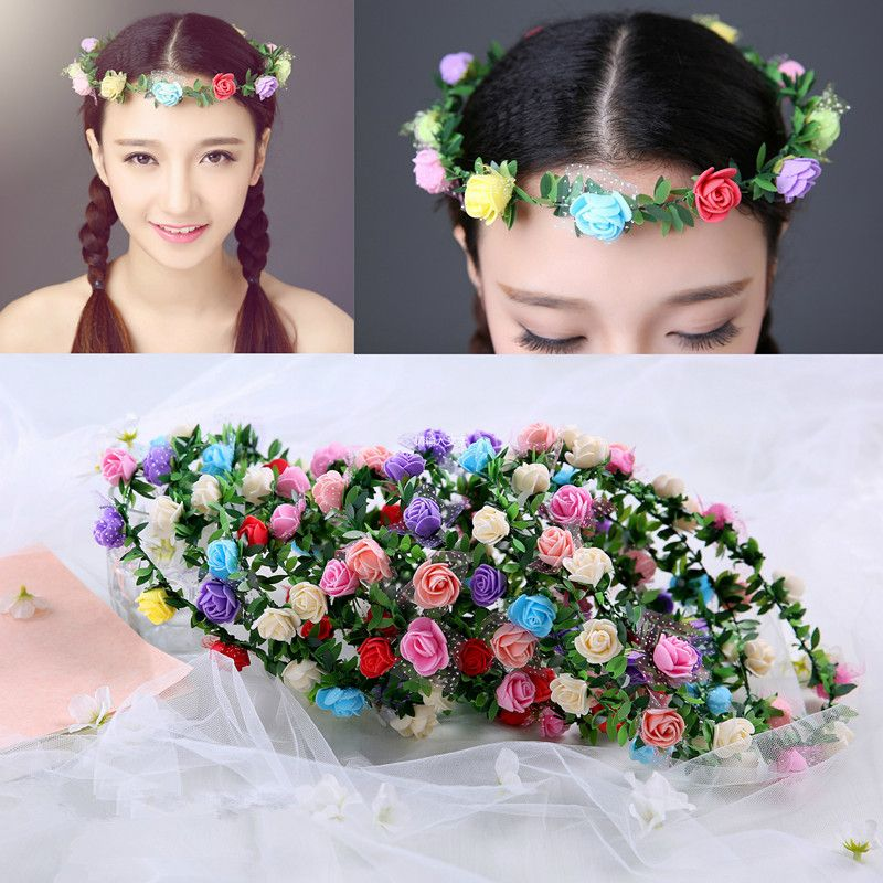 Adult Kids Artificial Flower Garland Wreath Headdress Band Hair Hoop Headband Bride Princess Crown Birthday Wedding Decoration #clothing,#shoes,#jewelry,#women,#men,#hats,#watches,#belts,#fashion,#style