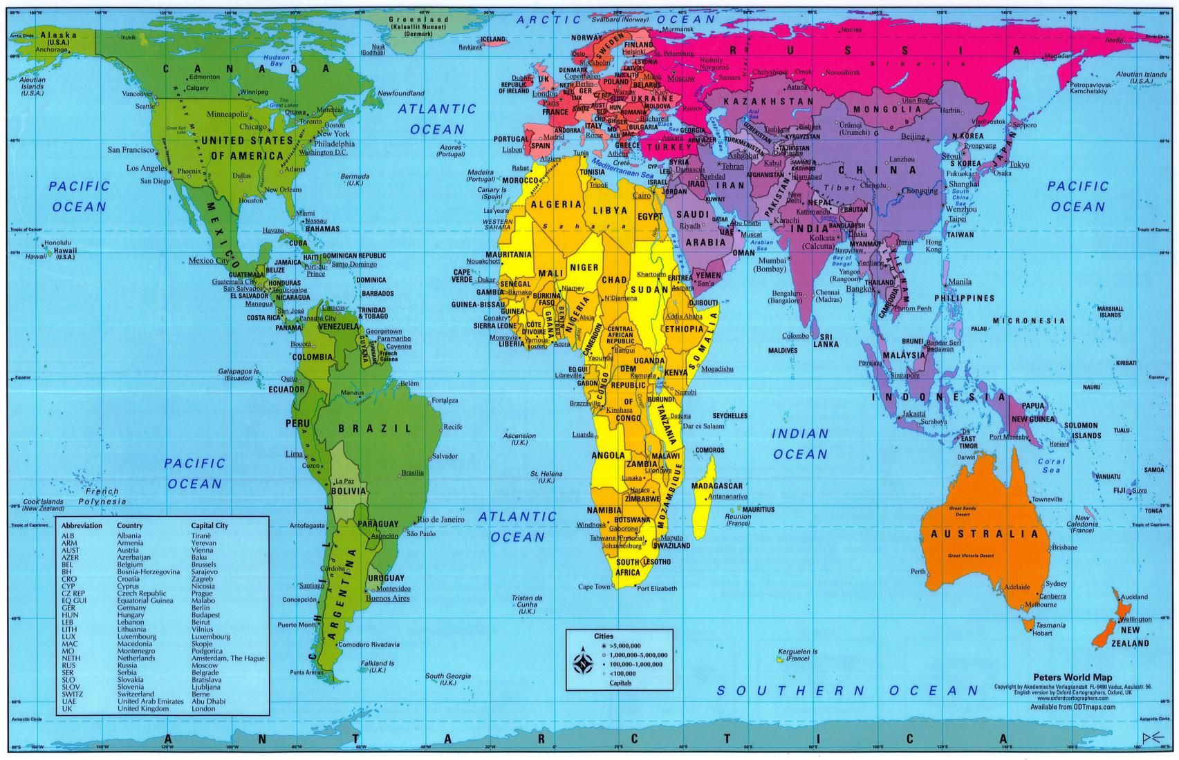 Download Map World Real Size Major Tourist Attractions Maps ...