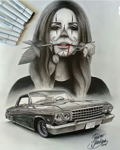 Chicano arte chicano art chicano drawings chicano tattoos lowrider art - Brown pride lowrider ...